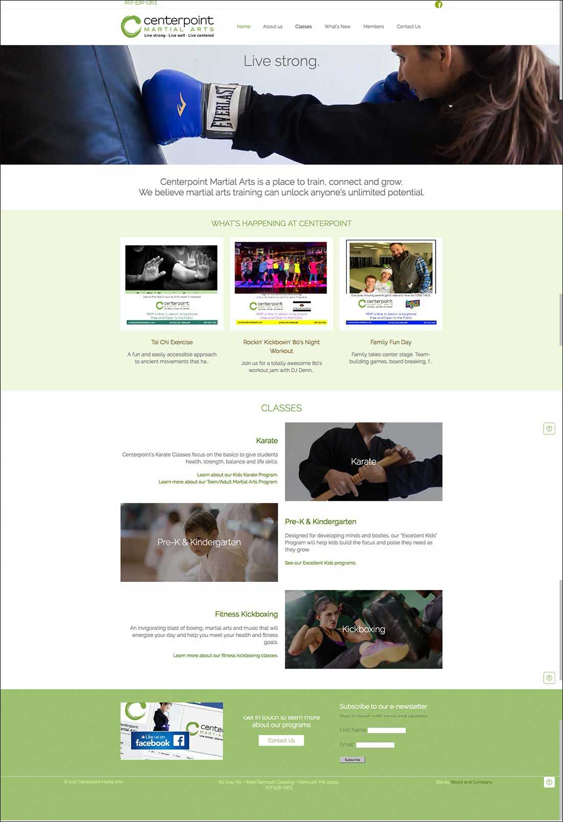 Centerpoint Martial Arts Website