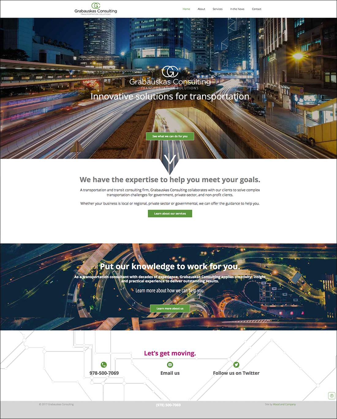 Transportation consulting website