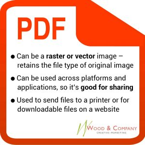 PDF's can be raster or vector images. The file is basically rendered as it's created, so it's good for sharing digital and print distribution. Often you'll see it's not an image or file directly on the site, but it's a downloadable file (most likely a brochure or pamphlet) that's good for the audience to preview and print.
