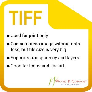 Tif images are best used for print. The file can save and compress without losing any information, which is wonderful but causes for a huge file that's too big for web-design. That's okay though, because the file format is always print-ready and can even support layers. Logos and line art are often in tiff form.